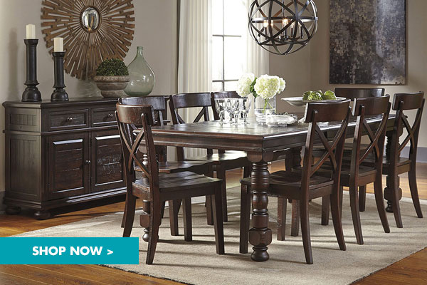 gerlane-dark-brown-rectangular-dining-room-extension-table-w-server-and-8-side-chairs